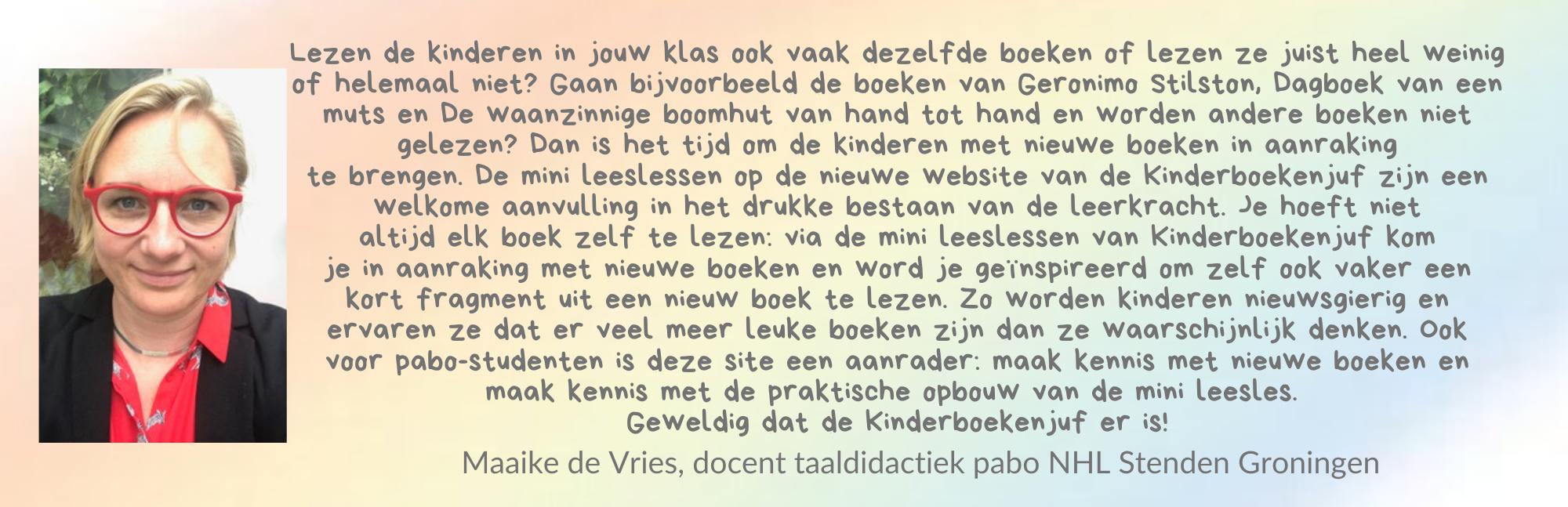Review Lezen met Kinderboekenjuf Maaike de Vries