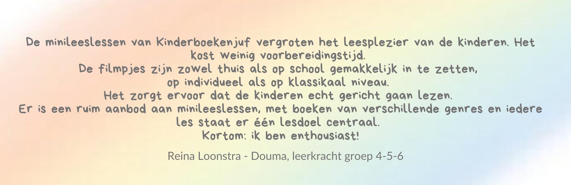 Review Lezen met Kinderboekenjuf Reina Loonstra